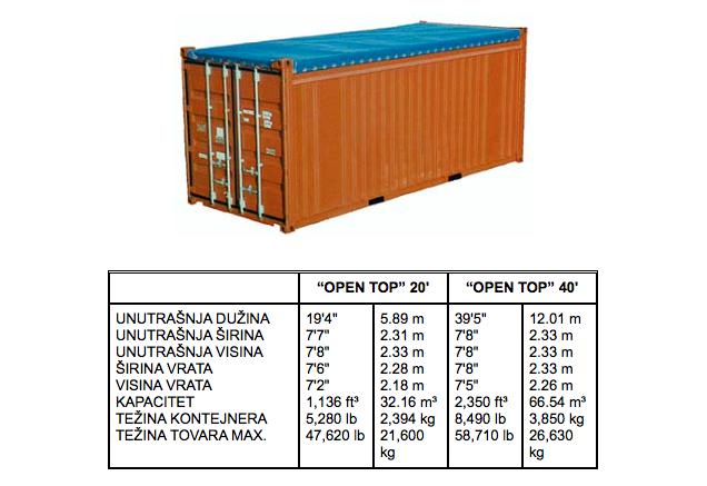 open top kontejner