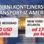 Zbirni Kontejnerski Transport Iz Amerike